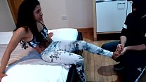 13321 Belly hitting & Feet fetish Gabriela Pliant getting punched on her belly and getting her feet worshiped preview