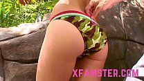 Tiny amateur Stepdaughter enjoys take giant love stick in mouth till jizz