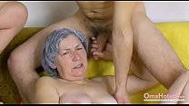 OmaHoteL Naked Couple and Granny Toys Threesome thumbnail