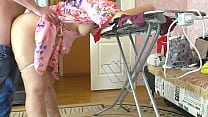 The stepson looked under her mom's skirt and in...