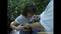 Dutch MILF Fucked In The Woods thumbnail
