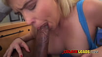 Chubby blonde angel loves to salivate.