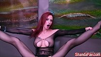 Canadian Milf Shanda Fay Gets Off Wearing a New Gift!