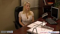 Naughty america office threesome