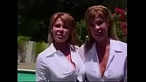 This woman has CLONED herself and shows off her BOOBS! - Who is the real one?
