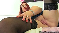British milf Tammy gives her fanny the dildo tr...