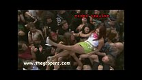 Crowd surfing nude festivals
