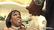 Juicy Ebony Kelly Starr Lubed Up By Black Stallion Lexington Steele!