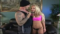 Amazing blonde with perfect tits does deep thro...