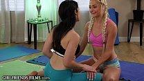 Teens Hookup & Scissor At Lesbian Yoga Class - GirlfriendsFilms