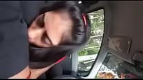 sucking in car صورة