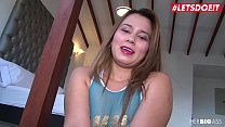 LETSDOEIT - Chubby Latina Gets a Mouthful of Cum