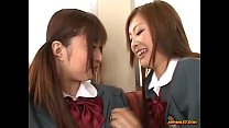 Schoolgirl Kissing Getting Her Tits Rubbed Nipples Sucked By Other Schoolgirl On thumbnail