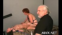 Severe bondage with breasty sweethearts