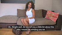 FakeAgentUK Inexperienced ebony amateur gets duped into fake sex casting video