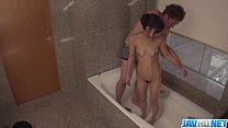 Lulu Kinouchi fucked in the tub and filmed in secret