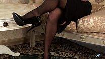 Gorgeous petite milf in stockings thumbnail