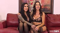 Voluptuous Lesbians Squirt While Toying and Eating Pussies in Live Show