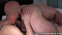 Hairy stud assfucked by bears fat dong preview image