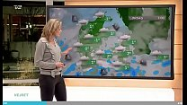Weather woman Cecilie Hother of TV2 Danmark jer down challange