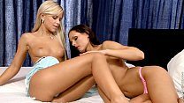 Silky Sex by Sapphic Erotica - lesbian fun with Lila and Kari