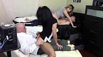 STEP MOM GRINDS SON'S DICK WHILE STEP DAUGHTER ...