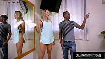 Seductive Blonde Shemale Bella Atrix Is Fucked Up the Ass by a Black Dude