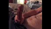 Stroking my big dick
