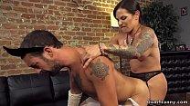 Big booty shemale anal fucks male maid
