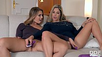 Eurogirls Ani Blackfox & Eva Parcker fill their pinks & butts with sex toys