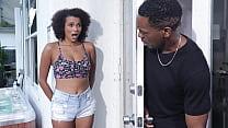 Black babe caught her friend's bf masturbating