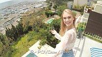 Image: POVD Balcony blonde WARM CREAMPIE FUCK