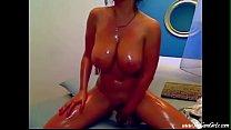 Oily Hot Sexy Babe Rides Dildo  | www.thecamgirlz.com
