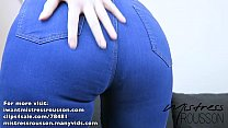 Goddess Ass Worship in Blue Jeans [PREVIEW]