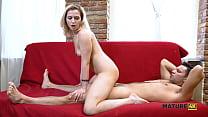 MATURE4K. Mature woman takes advantage of excit...