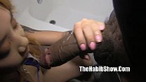 lil asian big mouth swallows monster redzilla dick