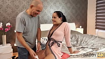 DADDY4K. Mature guy doesn't waste his chance to satisfy his son's girlfriend