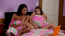 Booty College Girl Tricking Her Ebony Friend Into Lesbian Sex - Nia Nacci and Gia Derza
