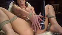 Hot ass Milf fucks machine solo bdsm