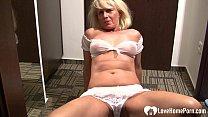 Blonde babe with big tits likes to masturbate - 69VClub.Com