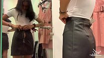 NAUGHTY HOT ASIAN TEEN RIDES GIANT DILDO IN PUBLIC CHANGING ROOM