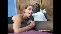 Redhead coed Mariah swallows a stiff black cock