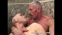 Mature gay fucks twink ass with toy