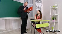 Sultry schoolgirl is seduced and nailed by her elder lecturer - 69VClub.Com