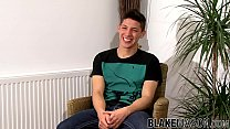 British amateur is happy to cum hard after stroking his dick