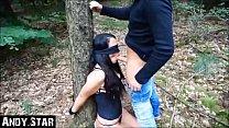 Junges Mädchen im Wald gefesselt und benutzt Vorschaubild