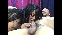 Cute ebony cutie Farrah Foxx  moans as a huge hard pole sinks into her tight pussy صورة