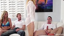 DAD, MOM, SON & DAUGHTER GANGBANG- Alina West