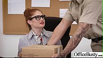 (Lennox Luxe) Big Tits Horny Office Girl Get Nailed Hardcore vid-14