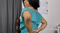 Slutty Tamil secretary shows off her skills to her boss in Tamil preview image